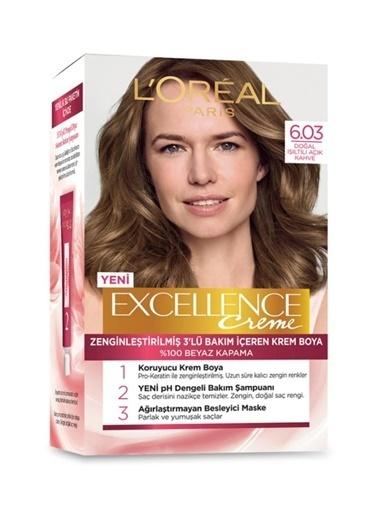 L'Oréal Paris Excellence Creme 6.03 Numara Yoğun Koyu Kumral Saç Boyası 3'lü Set Renkli